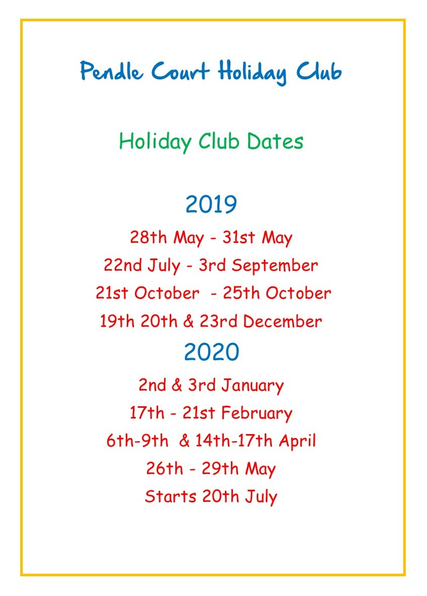 pendle-court-holiday-club-dates-2019-2020